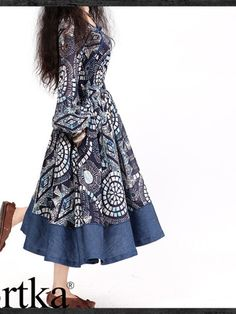 Blue Batik print dress by Artka.