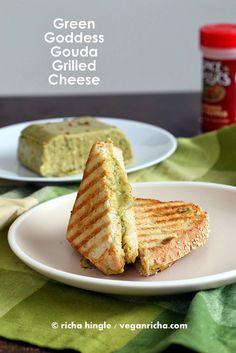 Green Goddess Gouda Cheese and Vegan St. Patrick's Day Round up. | Vegan Richa