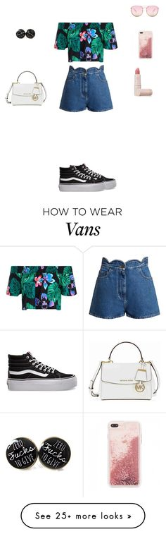 """"""""""" by zezelafrisee on Polyvore featuring New Look, Valentino, Vans, Michael Kors, Quay and Lipstick Queen"""