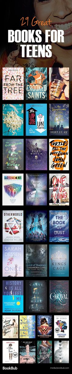 A great reading list of popular book for teens, including books for girls and boys, and romance, fantasy, dystopian fiction, and more. These are great 2017 and 2018 books worth reading.
