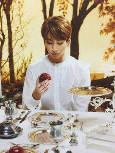 Jungkook oh my god stop being so perfect just looking at a damn apple