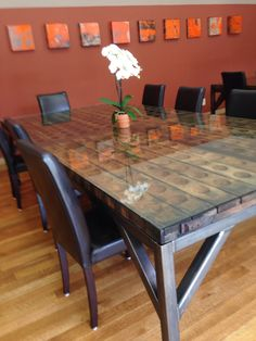 Riddling Rack Table | Custom Metal Base | Artesa Winery | Napa, CA