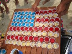 4th of July Jell-O Shots @Lindsey Raymond This is exactly what you were talking about today wasn't it?