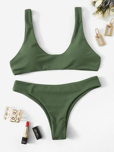 7d4fcde816 Snakeskin Print Underwire Top With High Cut Bikini | SHEIN | Someday ...