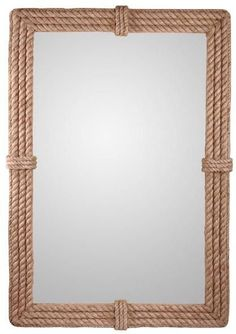 This unique mirror includes a natural rope frame, reminiscent of an old ship or artisan's craft. Add the Kenroy Home Rudy Wall Mirror to your collection today. Rope Mirror, Diy Mirror, Wall Mirror, Mirror Ideas, Home Decor Trends, Diy Home Decor, Decor Ideas, Spiegel Design, Rustic Mirrors