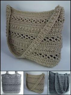 Purse pattern. Note to self: crochet over rope for the handles to make them less stretchy
