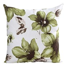 This is a nice and pretty green throw pillow.  I would combine a couple of these throw pillows with a couple of solid #green or #white throw #pillows for an awesome look. BETTERLIFE Decorative Throw Pillows Home Decor Cushion Pillow 18