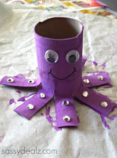 Most Popular Teaching Resources: Octopus Toilet Paper Roll Craft For Kids - Crafty ...