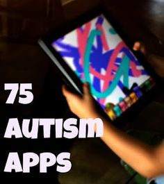 List of 75 apps to help children with Autism learn. www.TheRhythmTree.com #musictherapy #specialneeds