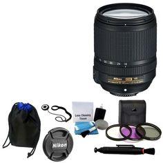 NEW Nikon 18-140mm VR AF-S DX NIKKOR Zoom Lens  UV Filter Kit Lens Pen Bundle