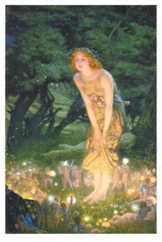 """""""Midsummer Eve, c 1908""""  by Edward Robert Hughes I have this print hanging on my wall!"""
