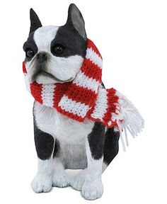 Sandicast Dog Ornament, Boston Terrier - Holiday Lane - Macy's