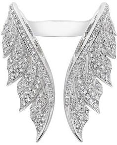 Stephen Webster Magnipheasant White Diamond Open Wing Ring https://api.shopstyle.com/action/apiVisitRetailer?id=497112374&pid=uid5984-37251728-26