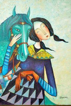 ZAYA - Zayasaikhan Sambuu, Mongolian painter.