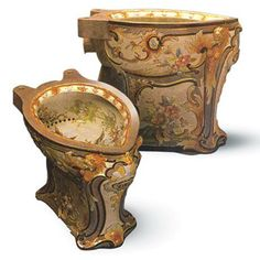 Works of art: Ornamental toilets are displayed at Sulabh International's Museum of Toilets in New Delhi.