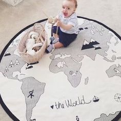 New 135cm Arrival Lovely world map Playmat Blanket Baby Play Rug Baby Game Mat Children Room Decoration Creeping Mat-in Play Mats from Toys & Hobbies on Aliexpress.com | Alibaba Group