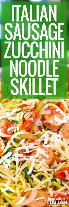 This amazingly simple Italian skillet recipe comes together in just 10 minutes with 5 real ingredients all in one skillet. FINALLY a dinner you can feel good about feeding your family and still have enough time to enjoy your evening. Sausage Recipes, Pork Recipes, Crockpot Recipes, Real Food Recipes, Sausage Meals, Keto Recipes, Fast Easy Meals, Fun Easy Recipes, Delicious Recipes