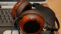 DIY Headphone Kit with true audiophile quality and beautiful woods Hi Fi Headphones, Audiophile Headphones, Audio Player, Electronics Gadgets, Loudspeaker, Wireless Speakers, Logitech, Polished Wood, Wood Trim