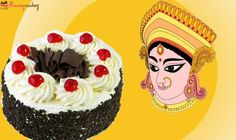 Enjoy the sweetness of this wonderful #cake this #DurgaPuja with your loved ones. Ideas @ flowerzncakez