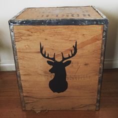 Buck on an original industrial tea chest. Unique ways to upcycle for your home. $70.