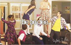 be on glee! :) bucket list, probably wont happen, but i can still dream