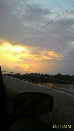 Por-do-sol, rio Maguari/PA