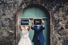 wedding signs - Read more on One Fab Day: http://onefabday.com/lissanoure-castle-wedding-by-moat-hill-photography/
