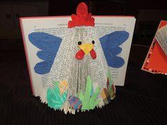 Recyclage de livres... les poules de Pâques sont arrivées !