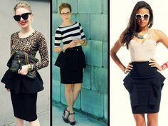 3 maneras de usar la falda peplum perfecta
