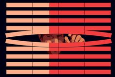 Daniel Hertzberg illustration for WSJ Richard Clarke on the Future of Privacy: Only the Rich Will Have It - WSJ