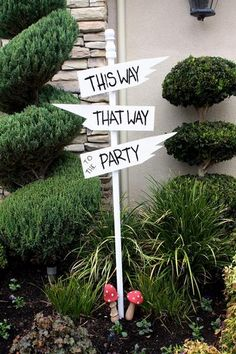 signs to the party