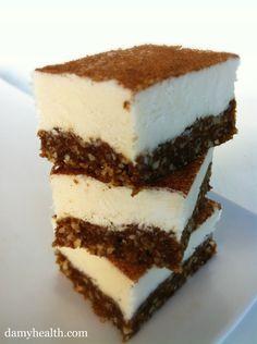 Raw/vegan Cinnamon Bun Cheesecake squares
