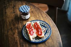 toast + jam + pretty plate