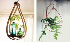 Add some funky planters to the mix. I'm partial to the planters from the mid-century. Make sure to keep 'em on counters and tables, but to hang 'em from ceilings and walls, too.