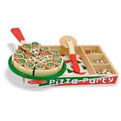 Melissa & Doug® Wooden Pizza Party 54-pc. Play Food Set