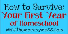 Homeschool tips for your first year!
