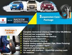 Nadeem International After you submit the form, we'll be in touch to confirm your service & work appointment. Brake Service, Auto Service, Suzuki News, Painting Words, Pressure Washing, Air Conditioning System, Car Engine, Oil Filter, Rear Brakes