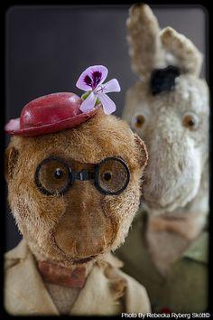 vintage monkey & donkey