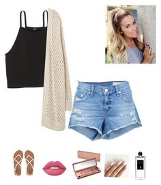 """""""summer night out"""" by alexbetancourt on Polyvore featuring rag & bone/JEAN, Billabong, Violeta by Mango, Lime Crime, Urban Decay and Serge Lutens"""