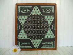 Vintage San Loo Chinese Checkers Board in Wooden by DivineOrders, $38.00