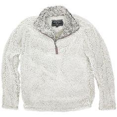 Frosty Tipped Pile 1/2 Zip Pullover in Putty by True Grit  - 3