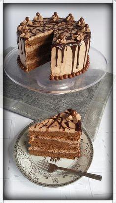 Ako želite tortu koja ukusom podseća na Ferero,a u sastavu nema mascarpone sir ovo bi mogla biti ona prava. Nastala je v... Torte Recepti, Kolaci I Torte, Baking Recipes, Cake Recipes, Dessert Recipes, Torte Cake, Chocolate Bouquet, Drip Cakes, Chocolate Desserts