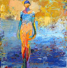 Jylian Gustlin-Caelum: Figures Contemporary Artist - Figurative Painting