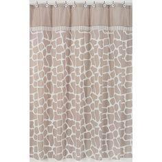 Sweet Jojo Designs Giraffe Cotton Shower Curtain & Reviews   Wayfair