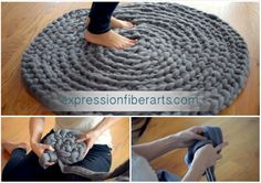 Here is best video tutorial – How to Crochet a Giant Circular Rug. This rug is the softest most beautiful rug you will ever make and is the best gift ever to receive. We found this wonderful tutorial on how to hand-crochet a huge circular rug with wool roving. Thanks …