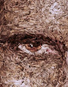 My interpretation of this art: collective human eye that has matured seeing the good, the bad and the ugly. Now gazing into the eternal with hope, fear, passion and the naked truth.     What is your interpretation?