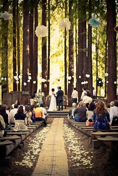 Would LOVE to have the wedding ceremony among the trees like this