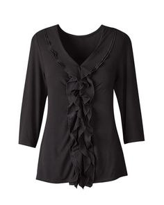 center ruffle top from my fav store Coldwater Creek
