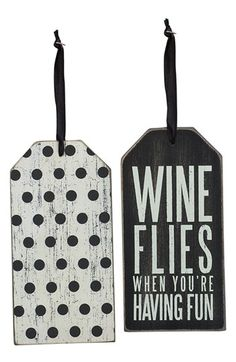 Primitives by Kathy 'Wine Flies' Bottle Tag available at #Nordstrom