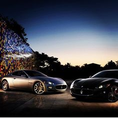Nice summers night, with two Beautiful cars! - Maserati!
